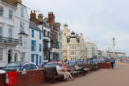 Cute houses at the seafront