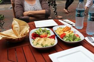 Hummus, Halloumi and Pita Bread