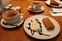 Flapjack and Hot Chocolate