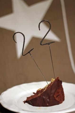 Marmorkuchen mit Wunderkerze 22