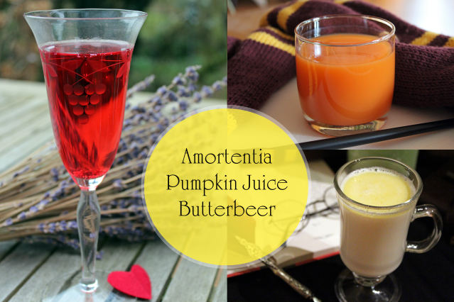 Collage Amortentia Pumpkin Juice Butterbeer